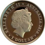 Australia 1 Dollar Etruria 2010 KM# 1568 ELIZABETH II AUSTRALIA 2010 1 DOLLAR IRB coin obverse