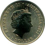 Australia 1 Dollar Faster 2012 KM# 1804 ELIZABETH II AUSTRALIA 2012 1 DOLLAR IRB coin obverse