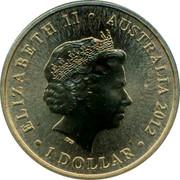 Australia 1 Dollar Higher 2012 KM# 1805 ELIZABETH II AUSTRALIA 2012 1 DOLLAR IRB coin obverse