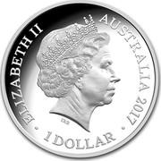 Australia 1 Dollar Kangaroo - Seasons Change 2017 Proof ELIZABETH II AUSTRALIA 2017 1 DOLLAR IRB coin obverse
