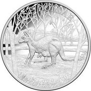 Australia 1 Dollar Kangaroo Series - Seasons Change 2016 Proof ONE DOLLAR 1 OZ .999 AG coin reverse