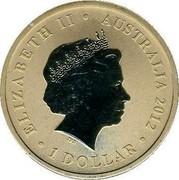 Australia 1 Dollar Kangaroos 2012 KM# 1811 ELIZABETH II AUSTRALIA 2012 1 DOLLAR IRB coin obverse