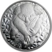 Australia 1 Dollar Koala 2007 1 OZ 999 SILVER coin reverse
