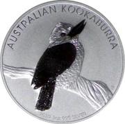 Australia 1 Dollar Kookaburra on a branch 2010 KM# 1471 AUSTRALIAN KOOKABURRA 2010 1 OZ 999 SILVER P coin reverse