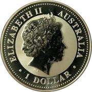 Australia 1 Dollar Kookaburra with sunburst on a background 2009 KM# 1296 ELIZABETH II AUSTRALIA 1 DOLLAR IRB coin obverse