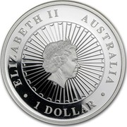 Australia 1 Dollar Opal Series - Koala 2012 KM# 1705 ELIZABETH II AUSTRALIA 1 DOLLAR IRB coin obverse