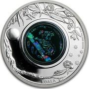 Australia 1 Dollar Opal Series - Koala 2012 KM# 1705 2012 1 OZ 999 SILVER P KOALA coin reverse