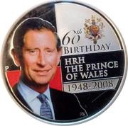 Australia 1 Dollar Prince Charles 60th Birthday 2008 60TH BIRTHDAY HRH THE PRINCE OF WALES 1948-2008 RV coin reverse