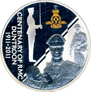 Australia 1 Dollar Royal Military College - Duntroon 2011 KM# 1592 CENTENARY OF RMC DUNTROON 1911-2011 DOCTRINA PROMOVET VIM ROYAL MILITARY COLLEGE P RV coin reverse
