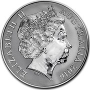 Australia 1 Dollar Saltwater Crocodile - Monty 2016 Frosted Unc ELIZABETH II AUSTRALIA 2016 IRB coin obverse