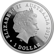 Australia 1 Dollar Swan 2017 ELIZABETH II AUSTRALIA 2017 1 DOLLAR IRB coin obverse