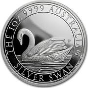 Australia 1 Dollar Swan 2017 THE 1 OZ 9999 AUSTRALIAN SILVER SWAN P NM coin reverse