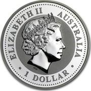 Australia 1 Dollar The Australian Kookaburra 2007 KM# 889 ELIZABETH II AUSTRALIA 1 DOLLAR IRB coin obverse