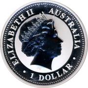 Australia 1 Dollar The Australian Kookaburra 2009 KM# 1284 ELIZABETH II AUSTRALIA 1 DOLLAR IRB coin obverse