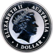 Australia 1 Dollar The Australian Kookaburra 2009 KM# 1285 ELIZABETH II AUSTRALIA 1 DOLLAR IRB coin obverse