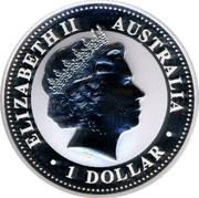 Australia 1 Dollar The Australian Kookaburra 2009 KM# 1293 ELIZABETH II AUSTRALIA 1 DOLLAR IRB coin obverse