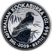 Australia 1 Dollar The Australian Kookaburra 2009 KM# 1284 THE AUSTRALIAN KOOKABURRA 1 OZ. 999 SILVER 2009 P20 coin reverse