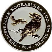 Australia 1 Dollar (The Australian Kookaburra) KM# 683 THE AUSTRALIAN KOOKABURRA 1 OZ. 99 SILVER 2004 JR coin reverse