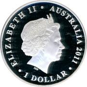 Australia 1 Dollar Tobruk 2011 KM# 1606 ELIZABETH II AUSTRALIA 2011 1 DOLLAR IRB coin obverse