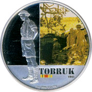 Australia 1 Dollar Tobruk 2011 KM# 1606 TOBRUK 1941 1 OZ III SILVER P WR coin reverse