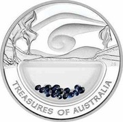 Australia 1 Dollar Treasures of Australia 2007 TREASURES OF AUSTRALIA coin reverse