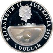 Australia 1 Dollar Treasures of Australia 2011 KM# 1564 ELIZABETH II AUSTRALIA 2011 1 DOLLAR 1 OZ 999 SILVER IRB coin obverse