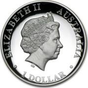 Australia 1 Dollar Two Playing Kangaroos 2010 KM# 1457 ELIZABETH II AUSTRALIA 1 DOLLAR IRB coin obverse