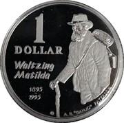 """Australia 1 Dollar Waltzing Matilda 2004 1 DOLLAR WALTZING MATILDA 1895-1995 A.B. """"BANJO"""" PATERSON coin reverse"""