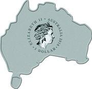 Australia 1 Dollar Wild Dingo (Map Shape) 2016 ELIZABETH II AUSTRALIA 2016 1 DOLLAR IRB coin obverse