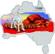 Australia 1 Dollar Wild Dingo (Map Shape) 2016 DINGO 1 OZ 999 SILVER P IJ 2016 coin reverse