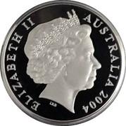 Australia 1 Dollar Wombat 2004 Proof ELIZABETH II AUSTRALIA 2004 IRB coin obverse