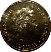 Australia 1 Dollar Year of the Dragon 2012 KM# 1680 ELIZABETH II AUSTRALIA 2012 IRB 1 DOLLAR coin obverse
