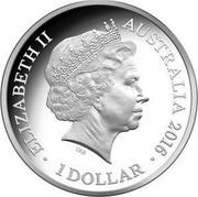 Australia 1 Dollar Year of the Monkey 2016 Proof ELIZABETH II AUSTRALIA 2016 1 DOLLAR IRB coin obverse