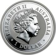 Australia 1 Dollar Year of the Pig. Colored 2007  ELIZABETH II AUSTRALIA IRB ∙ 1 DOLLAR ∙ coin obverse