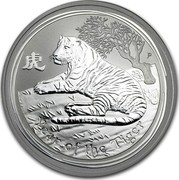 Australia 1 Dollar Year of the Tiger 2010 Proof KM# 1317 YEAR OF THE TIGER P coin reverse