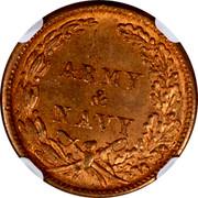 USA 1 Unknown denomination Army & Navy Civil War Token 1863 ARMY & NAVY coin reverse