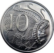 Australia 10 C 50th Anniversary of Decimal Currency 2016  10 C SD coin reverse