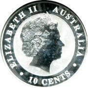 Australia 10 Cents Australian Koala 2011 P Brilliant Uncirculated ELIZABETH II AUSTRALIA IRB 10 CENTS coin obverse
