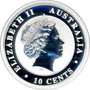 Australia 10 Cents Koala 2014 P ELIZABETH II AUSTRALIA IRB 10 CENTS coin obverse