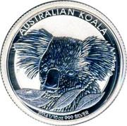 Australia 10 Cents Koala 2014 P AUSTRALIAN KOALA P 2014 1/10OZ 999 SILVER coin reverse