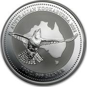 Australia 10 Dollars Australian Kookaburra 2002 KM# 603 AUSTRALIAN KOOKABURRA 2002 10 OZ. 999 SILVER coin reverse