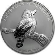 Australia 10 Dollars Australian Kookaburra 2010 KM# 1360 AUSTRALIAN KOOKABURRA 2010 10 OZ 999 SILVER P EM coin reverse