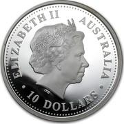 Australia 10 Dollars Evolution of Knowledge 2005 KM# 744 ELIZABETH II AUSTRALIA 10 DOLLARS IRB coin obverse