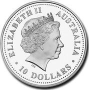 Australia 10 Dollars Evolution of Numbers 2004 KM# 739 ELIZABETH II AUSTRALIA 10 DOLLARS IRB coin obverse