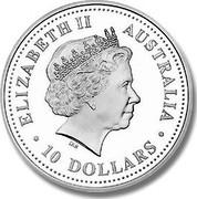 Australia 10 Dollars Evolution of the Alphabet 2003 KM# 686 ELIZABETH II AUSTRALIA 10 DOLLARS IRB coin obverse