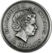 Australia 10 Dollars Evolution of Time 2002 P Proof KM# 633 ELIZABETH II AUSTRALIA 10 DOLLARS IRB coin obverse