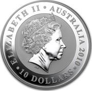 Australia 10 Dollars Koala 2010 KM# 1368 ELIZABETH II AUSTRALIA 2010 10 DOLLARS IRB coin obverse