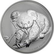 Australia 10 Dollars Koala 2010 KM# 1368 10 OZ 999 SILVER P WR coin reverse