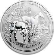 Australia 10 Dollars Lunar Horse 2014 KM# 2114 YEAR OF THE HORSE P TV coin reverse