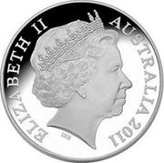 Australia 10 Dollars President's Cup 2011 Proof KM# 1622 ELIZABETH II AUSTRALIA 2011 IRB coin obverse